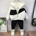 suit Other / other White, black 90cm,100cm,110cm,120cm,130cm,140cm,150cm male spring and autumn leisure time Long sleeve + pants 2 pieces routine No model Socket nothing Cartoon animation cotton children Expression of love Class B Polyester 90% other 10% Chinese Mainland Zhejiang Province Huzhou City