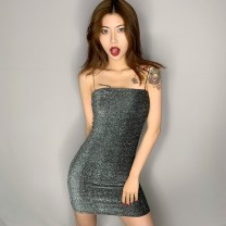 Dress Summer of 2019 S,M,L Short skirt singleton  street High waist camisole Europe and America