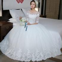 Wedding dress Spring 2020 White short sleeves, white medium sleeves XS,S,M,L,XL,XXL High waist