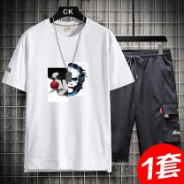 T-shirt Youth fashion 8182 clown white 8182 clown black 8182 clown cowboy blue a set of 9182 clown white a set of 9182 clown black a set of 9182 clown cowboy blue routine M L XL 2XL 3XL 4XL Guest speech Short sleeve Crew neck easy Other leisure summer TZ 9182 Cotton 100% teenagers routine tide cotton