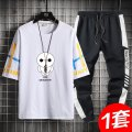 T-shirt Youth fashion routine 4XL M L XL 2XL 3XL Guest speech Long sleeves Crew neck easy Other leisure summer Cotton 100% teenagers routine tide Cotton wool Summer 2021 Cartoon animation printing cotton Creative interest No iron treatment Pure e-commerce (online only) More than 95%