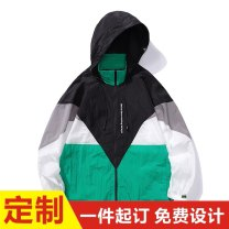 Jacket Guest speech Youth fashion 406b 9903 blue 406b 9903 green M L XL 2XL 3XL routine easy Other leisure autumn Other 100% Long sleeves Wear out Hood tide youth routine zipper No iron treatment Closing sleeve polyester fiber Summer 2021 Color matching Side seam pocket