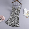 Nightdress Other / other Stripe long hanging, stripe short hanging M,L,XL sexy pajamas Short skirt summer stripe youth V-neck Polyester (polyester) More than 95% 200g and below