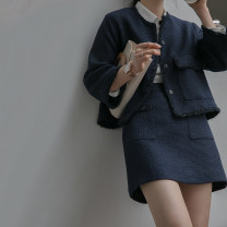 Fashion suit Spring 2020 S M L XL Navy coat Navy skirt 25-35 years old raw water S0005 96% and above polyester fiber Polyester 100% Pure e-commerce (online only)