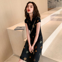 cheongsam Summer of 2019 S M L XL XXL XXXL Short sleeve long cheongsam Retro High slit daily Round lapel Abstract pattern 18-25 years old Piping Janani other Other 100% Pure e-commerce (online only)