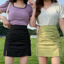 Women's large Spring 2021, summer 2021 Green, black M (recommended 80-100 kg), l (recommended 100-120 kg), XL (recommended 120-140 kg), 2XL (recommended 140-160 kg), 3XL (recommended 160-180 kg), 4XL (recommended 180-200 kg) to ensure that the real object is consistent with the picture skirt commute