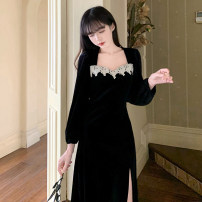 Women's large Winter 2020, spring 2021 black M (recommended 80-100 kg), l (recommended 100-120 kg), XL (recommended 120-140 kg), 2XL (recommended 140-160 kg), 3XL (recommended 160-180 kg), 4XL (recommended 180-200 kg) to ensure that the real object is consistent with the picture Dress singleton
