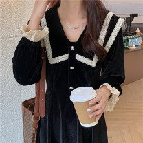 Women's large Winter 2020, autumn 2020 black M (recommended 80-100 kg), l (recommended 100-120 kg), XL (recommended 120-140 kg), 2XL (recommended 140-160 kg), 3XL (recommended 160-180 kg), 4XL (recommended 180-200 kg) to ensure that the real object is consistent with the picture Dress singleton