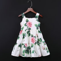 Parent child fashion Women's dress female Childhooddays / Xiong Yinuo summer Europe and America Thin money Broken flowers skirt Pure cotton (100% cotton content) Cotton 100% Class B Chinese Mainland