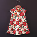 cheongsam 80,90100110120130140150155160, mom s, mom m, mom other sizes customized Red rose with black background, red rose with apricot background Polyester 100% Childhooddays / Xiong Yinuo No model summer other Class B Chinese Mainland