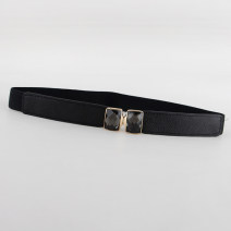 Belt / belt / chain Pu (artificial leather) White, black, red, camel, navy female Waistband Sweet Single loop Youth, youth a hook Diamond inlay soft surface 2.5cm alloy Bare, inlaid, elastic 65cm