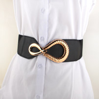 Belt / belt / chain other Black, camel, white female Waistband Versatile Single loop Youth, youth, middle age a hook other soft surface 6cm alloy Naked, elastic 66cm