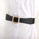 Belt / belt / chain other Black, white female belt Versatile Single loop Youth, youth, middle age Smooth button other soft surface 4cm alloy Bare, inlaid, elastic 76cm