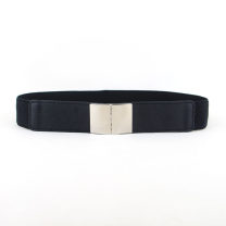 Belt / belt / chain Pu (artificial leather) Black, red, white female Waistband Simplicity Single loop Youth, youth, middle age a hook Glossy surface Glossy surface 4cm alloy Naked, elastic 65cm