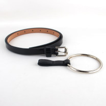 Belt / belt / chain Pu (artificial leather) White, red, silver, black, camel, aqua blue, pink female belt leisure time Single loop Youth, youth Pin buckle Glossy surface Patent leather 1.4cm alloy alone 100cm