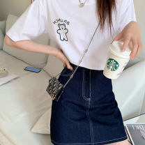 Fashion suit Spring 2021 S,M,L White T-shirt, blue skirt, white T-shirt + blue skirt 18-25 years old 31% (inclusive) - 50% (inclusive)
