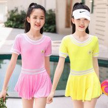 Children's swimsuit / pants Baiya Average size [50-80 Jin] Pink, lake blue, yellow Children's one piece swimsuit children polyester fiber G-NT867109