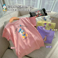 T-shirt luson 80, 90, 100, 110, 120, 130, 140 female summer Short sleeve Crew neck leisure time other Cartoon characters Other 100% 12 months, 18 months, 2 years old, 3 years old, 4 years old, 5 years old, 6 years old, 7 years old
