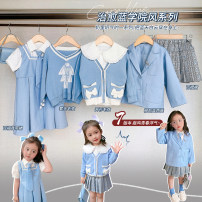 suit luson 80, 90, 100, 110, 120, 130, 140 female summer college Thin money There are models in the real shooting Solid color GLC1019 12 months, 18 months, 2 years old, 3 years old, 4 years old, 5 years old, 6 years old, 7 years old