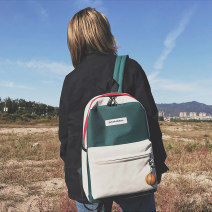 Backpack oxford Eavalue / ivanlo brand new large zipper campus Double root Japan and South Korea soft youth yes Soft handle Solid color Yes female Water splashing prevention Vertical square polyester fiber Color contrast yes 14 inches set-in pocket Spring / summer 2018 Pure e-commerce (online only)
