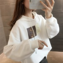 Sweater / sweater Spring 2021 Blue white pink rubber red S M L XL Long sleeves routine Socket singleton  Thin money Hood easy commute routine Cartoon animation 18-24 years old 96% and above Pink Avril Korean version other printing Cotton liner Other 100% Pure e-commerce (online only)