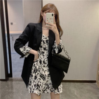 Fashion suit Winter 2020 S M L XL XXL Black dress black suit pink dress pink suit blue dress blue suit 18-25 years old Gu Shixi 1704# Other 100% Pure e-commerce (online only)