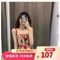 Dress Spring 2021 Picture color S,XL,L,M Mid length dress singleton  High waist other zipper A-line skirt camisole 18-24 years old Embroidery , Hollow out , backless , Splicing Lace polyester fiber