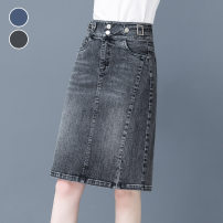 skirt Summer 2021 S M L XL 2XL 3XL 176 blue 176 smoke grey 150 blue Mid length dress Versatile High waist skirt Solid color Type A 25-29 years old 81% (inclusive) - 90% (inclusive) other Universal language cotton Pocket button zipper panel Pure e-commerce (online only)