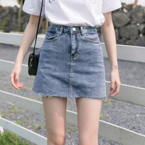 skirt Summer 2020 XS S M L XL 2XL Short skirt Versatile High waist A-line skirt Solid color Type A 18-24 years old More than 95% other Tassel pocket button zipper Other 100% Pure e-commerce (online only)