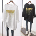 T-shirt White black S M L XL 2XL Spring 2021 Long sleeves Crew neck easy Medium length routine commute cotton 86% (inclusive) -95% (inclusive) 25-29 years old Simplicity originality letter Snow Charm BXMB3623B Cotton 95% polyurethane elastic fiber (spandex) 5% Pure e-commerce (online only)