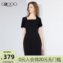 Dress Spring 2020 150/XXS 155/XS 160/S 165/M 170/L 175/XL 180/XXL Mid length dress Short sleeve commute 25-29 years old G2000 Simplicity 71% (inclusive) - 80% (inclusive) polyester fiber Offline only (only offline o2o sales)