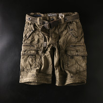 Casual pants Max Coopy Youth fashion Black / S + tooling pants (120271), Tibetan / S + tooling pants (120271), Khaki / S + tooling pants (120271), white / S + tooling pants (120271), military green / S + tooling pants (120271) Pant Other leisure Straight cylinder Cotton 100%
