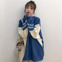 Women's large Winter of 2019 M L XL Sweater / sweater singleton  commute easy thickening Socket Long sleeves Shape solid color Korean version Hood Medium length polyester routine Xianwan Poetry 18-24 years old thread 96% and above Polyester 75% cotton 25% Pure e-commerce (online only)