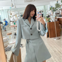 Fashion suit Spring 2021 Average size Mint reservation, beige reservation, black reservation, mint stock = 1 18-25 years old Other / other cotton