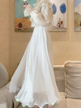 skirt Summer 2020 80CM,90CM,100CM Pearl White longuette gorgeous High waist Fairy Dress Solid color Type A 25-29 years old 51% (inclusive) - 70% (inclusive) other Other / other other Three dimensional decoration