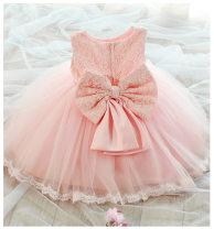 Dress female Other / other Polyester 100% summer princess Skirt / vest Solid color blending Irregular Class B 12 months, 9 months, 18 months, 2 years old, 3 years old, 4 years old, 5 years old, 6 years old, 7 years old, 8 years old, 9 years old, 10 years old
