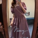 Dress Summer 2020 Purple, green Average size Mid length dress singleton  Short sleeve commute square neck Loose waist Solid color Socket other other Others 18-24 years old Type H Korean version 31% (inclusive) - 50% (inclusive) cotton