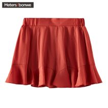 Casual pants Indian red, black group 160/64A,165/68A,170/78A,165/72A,170/80A,175/82A,175/84A,165/74A,150/60A,170/76A,155/62A,160/66A,175/86B Summer of 2019 shorts Flared trousers Natural waist Sweet routine 18-24 years old 96% and above Meters Bonwe other polyester fiber Countryside