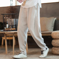Casual pants Others Youth fashion Off white, Navy, black, k801 khaki M,L,XL,2XL,3XL routine trousers Other leisure easy No bullet XD167642 Four seasons youth Chinese style 2019 middle-waisted Little feet Other 100% Haren pants Three dimensional tailoring