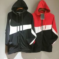 Sportswear / Pullover M (adult), l (adult), XL (adult), XXL (adult) Other / other Red and white stitching, black and white stitching Not detailed male ZM85000 Cardigan Hood cotton Sports & Leisure Men's outdoor zipper zipper