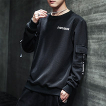 Sweater Youth fashion Special occasion Black white light grey M L XL 2XL 3XL 4XL other Socket routine Crew neck autumn easy leisure time teenagers tide routine A301-Y112 Polyester 97% polyurethane elastic fiber (spandex) 3% No iron treatment Autumn of 2019 Pure e-commerce (online only) simple style