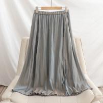 skirt Spring 2021 Average size Light green, beige, bluish gray