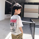 T-shirt white Beep, beep, beep 100cm 110cm 120cm 130cm 140cm 150cm 160cm male summer Short sleeve Crew neck Korean version There are models in the real shooting nothing cotton Cartoon animation Cotton 95% polyurethane elastic fiber (spandex) 5% 0ba07 Class B Sweat absorption Summer 2021