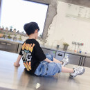 suit Beep, beep, beep 100cm 110cm 120cm 130cm 140cm 150cm 160cm male summer Korean version Short sleeve + pants 2 pieces routine There are models in the real shooting Socket nothing other cotton children Expression of love Class B Cotton 95% polyurethane elastic fiber (spandex) 5% Summer 2021