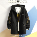 Windbreaker Youth fashion Mvmepuk / mupeng Medium and long term easy zipper Other leisure autumn Large size Hood (not detachable) tide DS054FY5107 Cotton 95% polyester 5% Solid color Non iron treatment Digging bags with lids Multiple pockets canvas cotton Autumn 2020 90% (inclusive) - 95% (inclusive)