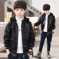 Jacket / leather Taiyiku male black 120cm 130cm 140cm 150cm 160cm 170cm PU leather Korean version spring and autumn routine Detachable cap Zipper shirt There are models in the real shooting TYK870 Lapel Other 100% Spring 2021