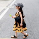 Dress Yellow dress female Xiaomi candy 80cm,90cm,100cm,110cm,120cm,130cm Other 100% summer Europe and America Skirt / vest other 12 months, 18 months, 2 years old, 3 years old, 4 years old, 5 years old, 6 years old, 7 years old, 8 years old Chinese Mainland Guangdong Province Dongguan City