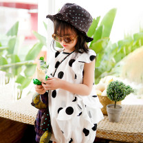 Dress female Xiaomi candy 80cm,90cm,100cm,110cm,120cm,130cm Other 100% summer leisure time Short sleeve Solid color other Lotus leaf edge 12 months, 3 years, 6 years, 18 months, 9 months, 2 years, 5 years, 4 years Chinese Mainland Guangdong Province Dongguan City