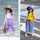 Vest sling Yellow badge vest, purple badge vest Sleeveless 80,90,100,110,120,130,140 summer Xiaomi candy female There are models in the real shooting Europe and America Solid color Crew neck nothing 7 years, 8 years, 12 months, 3 years, 6 years, 18 months, 2 years, 5 years, 4 years Chinese Mainland