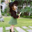 skirt 80cm,90cm,100cm,110cm,120cm,130cm Camellia skirt Xiaomi candy female Cotton 100% No season skirt Korean version Solid color Pleats Class B